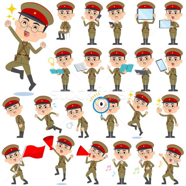Militar desgaste Japão estilo homem conjunto Foto stock © toyotoyo