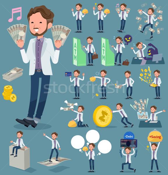 flat type wild Middle aged men_money Stock photo © toyotoyo