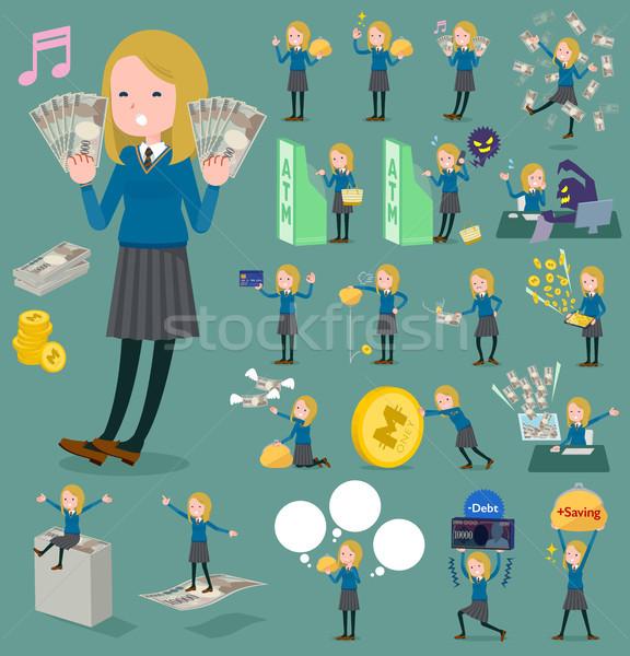 Typu uczennica kobiet student zakupy teen Zdjęcia stock © toyotoyo