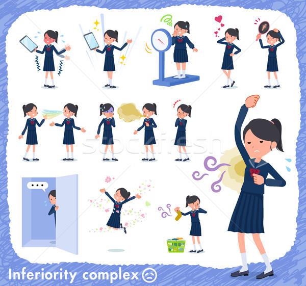 Type schoolmeisje matroos ingesteld lijden geur Stockfoto © toyotoyo