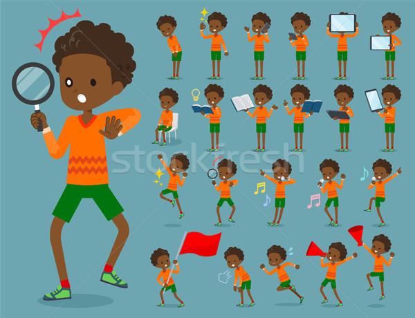 Dauer haj fiú gyerekek könyv Stock fotó © toyotoyo