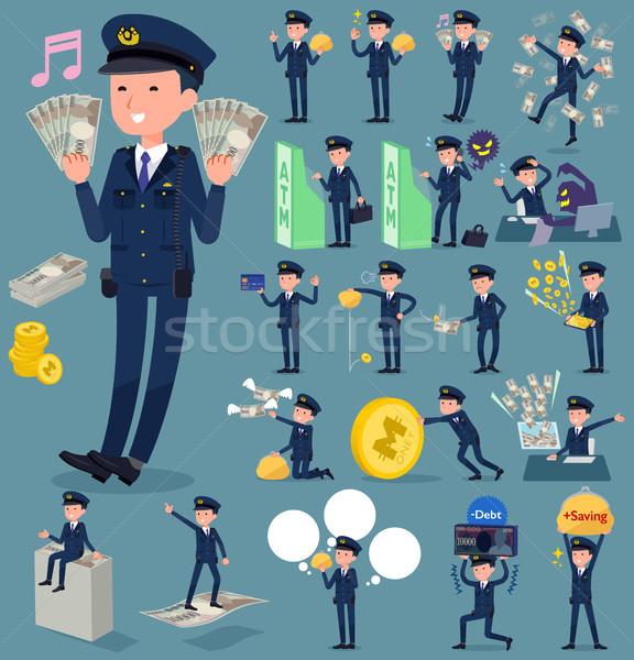 flat type police men_money Stock photo © toyotoyo