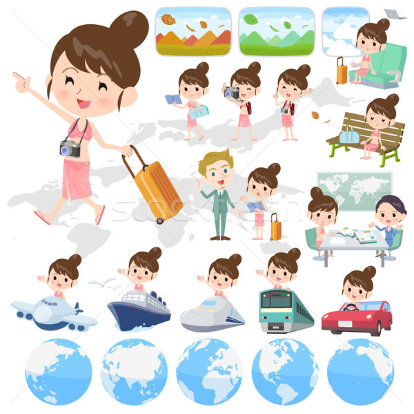 mom Swimwear style_travel Stock photo © toyotoyo