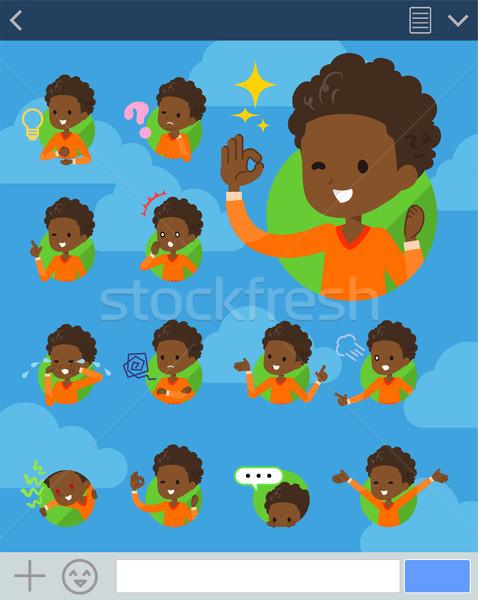 Type permanent haren jongen kinderen internet Stockfoto © toyotoyo