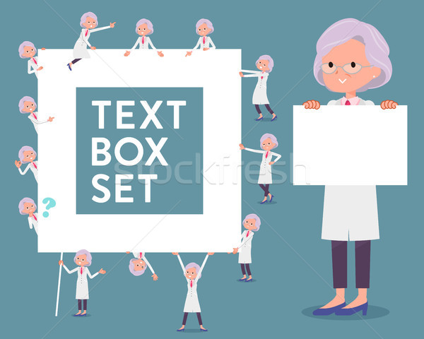 flat type Research Doctor old women_text box Stock photo © toyotoyo