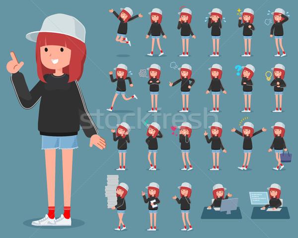 タイプ スポーティー 汗 着用 女性 ファッション ストックフォト © toyotoyo