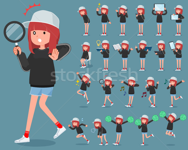 タイプ スポーティー 汗 着用 インターネット 女性 ストックフォト © toyotoyo