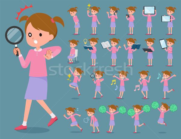 Type roze kleding ingesteld familie Stockfoto © toyotoyo