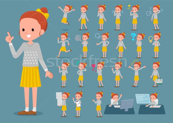 Typu ubrania wstążka zestaw różny Zdjęcia stock © toyotoyo