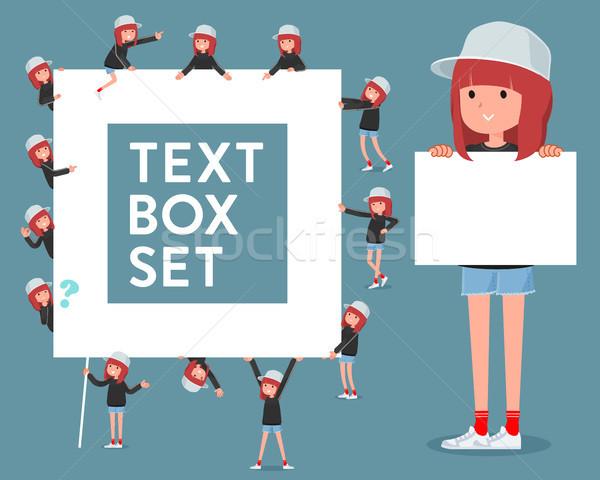 タイプ スポーティー 汗 着用 ボックス 女性 ストックフォト © toyotoyo