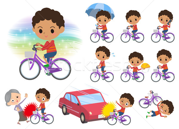 Dauer haj bicikli szett különböző autó Stock fotó © toyotoyo