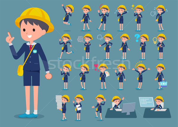 flat type Nursery school boy_1 Stock photo © toyotoyo
