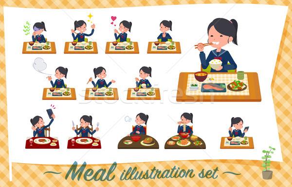 Zdjęcia stock: Typu · uczennica · marynarz · zestaw · chińczyk · kuchnia