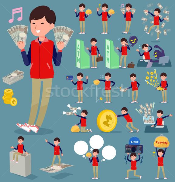Tipo armazenar pessoal vermelho uniforme compras Foto stock © toyotoyo