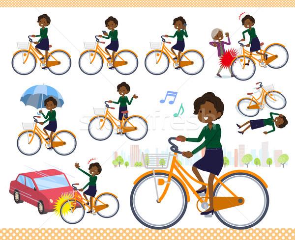 Tipo negócio preto ciclo conjunto mulheres Foto stock © toyotoyo