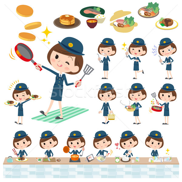 police Women_cooking Stock photo © toyotoyo