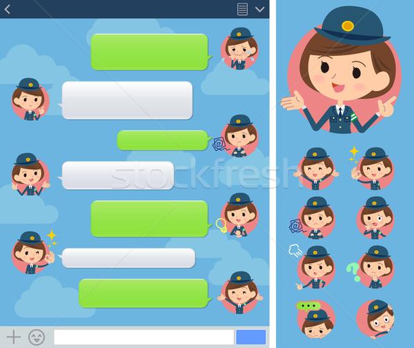 警察 女性 ウィンドウ セット インターネット ストックフォト © toyotoyo