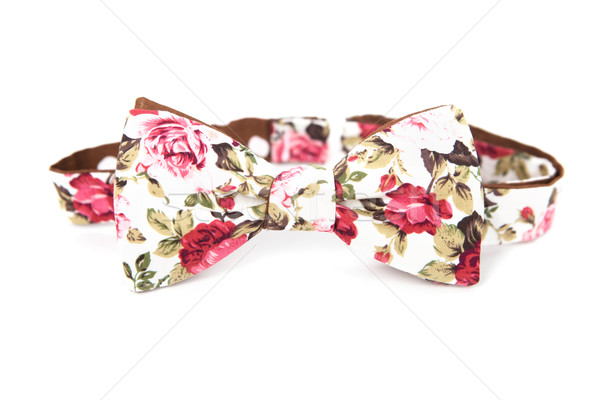 Bow tie with floral image on an isolated white background Stock photo © traza