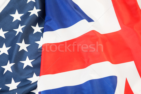 Vlag Verenigd Koninkrijk USA Verenigde Staten amerika ruimte Stockfoto © traza