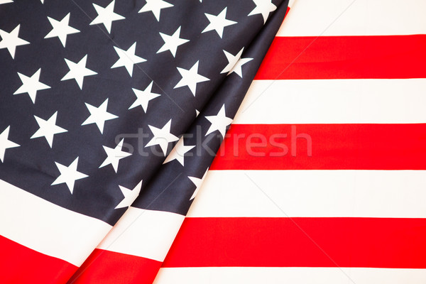 Symbol of American independence. Red white flag USA Stock photo © traza