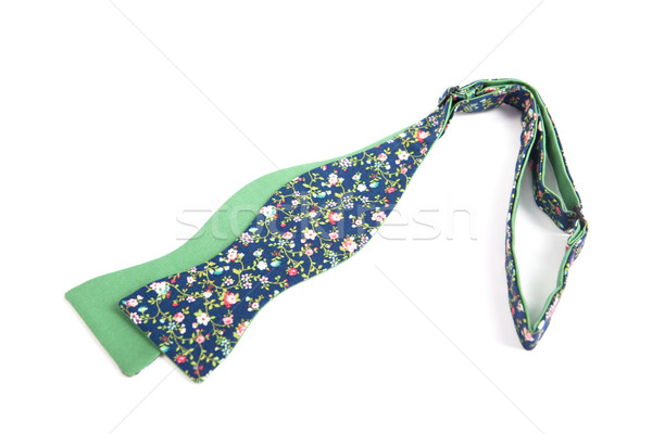 Flower green bow tie isolated on white background Stock photo © traza