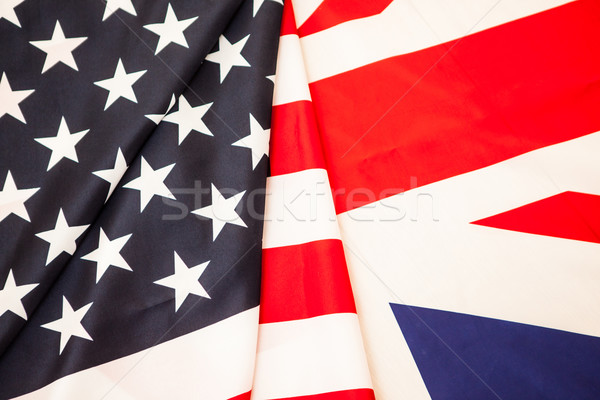 Flags of the United States and Great Britain. Two of the flag States to develop. Stock photo © traza