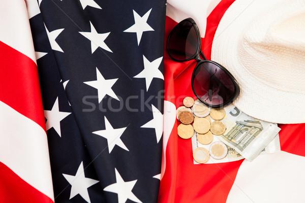 Business Engeland twee vlaggen geld ruimte Stockfoto © traza
