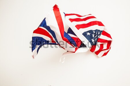 Vallen vlag Verenigde Staten groot-brittannië vallen vlaggen Stockfoto © traza