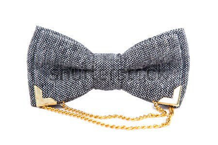 glamorous gray bow tie isolated on white background Stock photo © traza