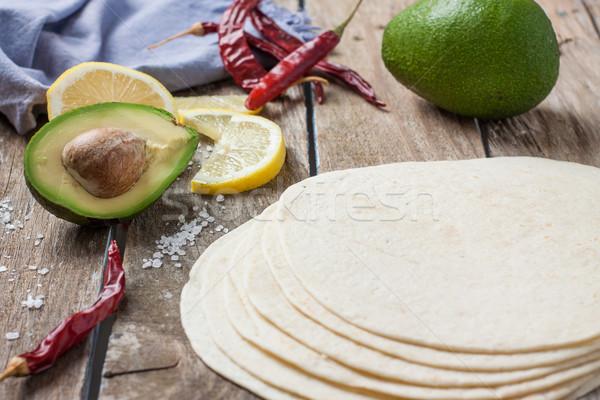 Comida mexicana ingredientes mexicano saúde verde Foto stock © trexec