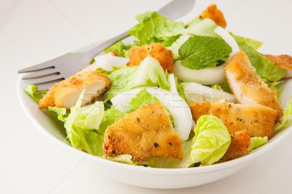 куриные Салат салата лук белый Сток-фото © trexec