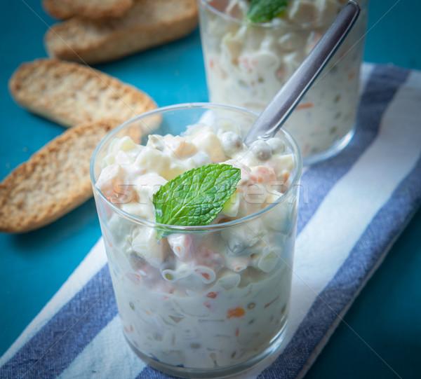 Salada de batatas russo salada batata verde ovos Foto stock © trexec