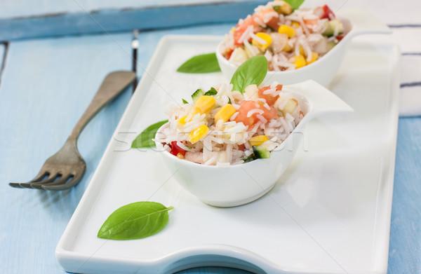 Arroz salada apetitoso saudável legumes branco Foto stock © trexec