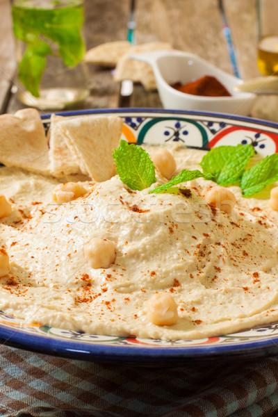 Hummus sauce Stock photo © trexec
