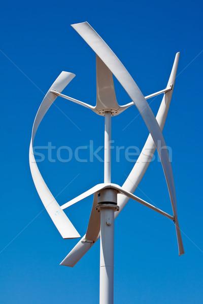 ветер мельница турбина Blue Sky пейзаж технологий Сток-фото © trexec