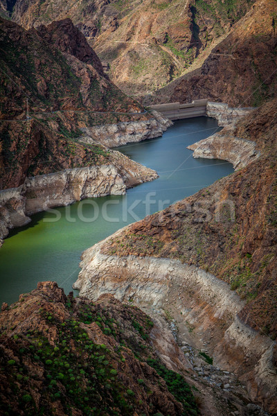 Dam in gran canaria Stock photo © trexec