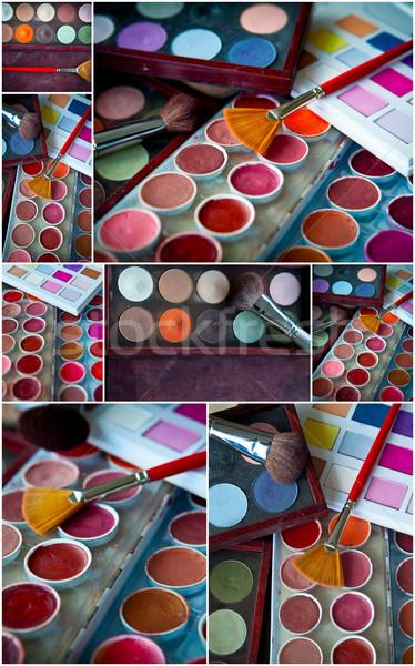 Makyaj kolaj renkler göz model güzellik Stok fotoğraf © trexec
