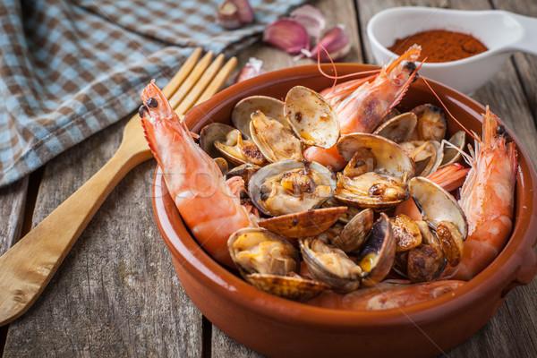 Seafood style clams Stock photo © trexec