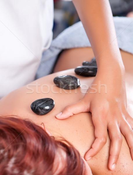 массаж профессиональных массажистка каменные лечение Сток-фото © trexec