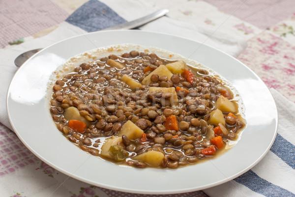 Legumes servido branco prato comida Foto stock © trexec