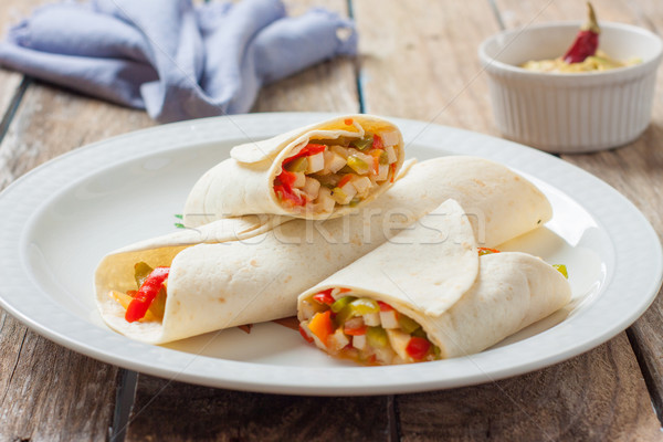 mexican food burrito Stock photo © trexec