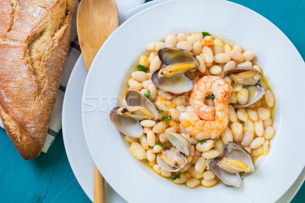 Beans and clams Stock photo © trexec