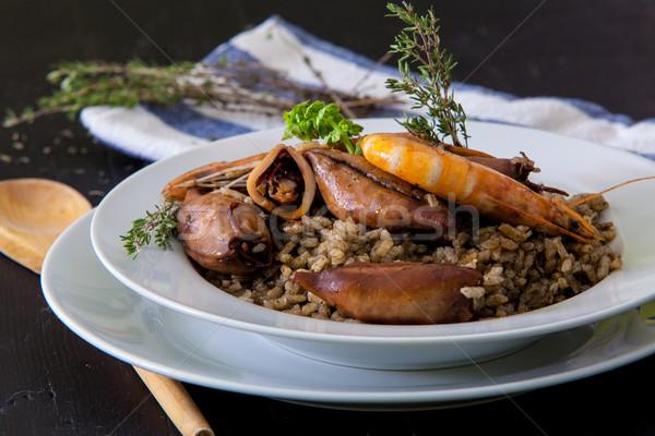 rice and squid Stock photo © trexec