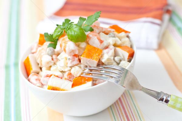 Salata patates sos gıda balık Stok fotoğraf © trexec