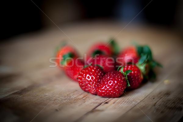 Morango doce fresco vermelho morangos Foto stock © trexec