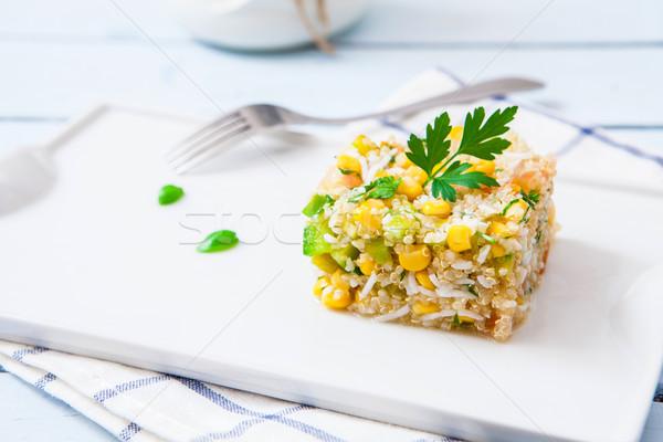 вегетарианский Салат риса лоток продовольствие Сток-фото © trexec