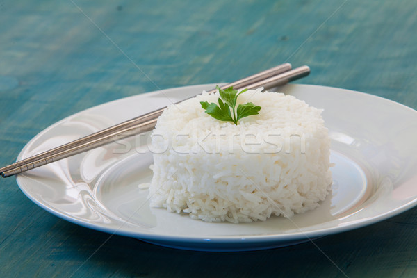 Arroz branco prato dois Foto stock © trexec