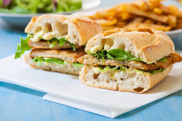 Kip sandwich salade voedsel hot Stockfoto © trexec