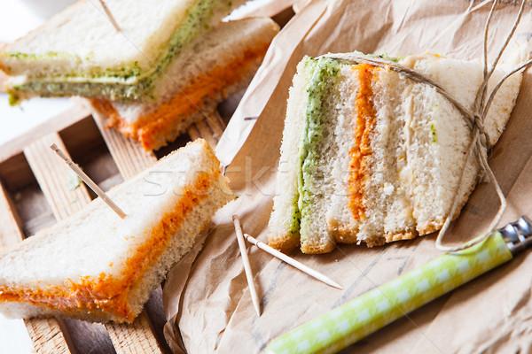 Sandwich vers tomaat sla room papier Stockfoto © trexec