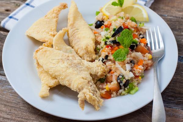Deep fried fillet with salad Stock photo © trexec